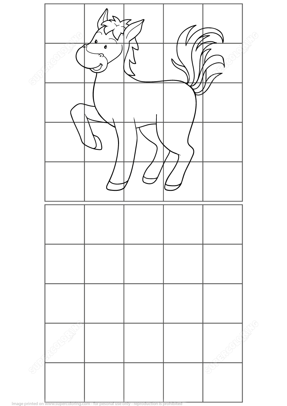 Horse Grid Puzzle | Free Printable Puzzle Games - Printable Horse Puzzles