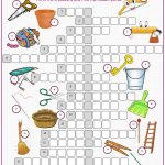 Household Items Crossword Puzzle | Esl   Vocabulary   House   Printable Esl Puzzles