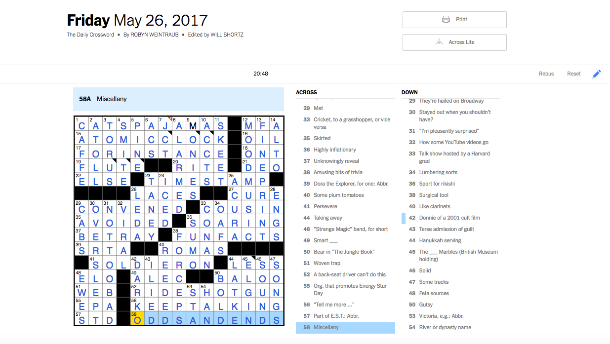 How I Mastered The Saturday Nyt Crossword Puzzle In 31 Days - Printable Lexicon Puzzles