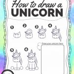 How To Draw A Unicorn – Free Printable – Growing Play – Printable Unicorn Puzzles