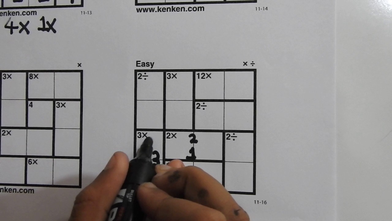 How To Solve 4X4 Kenken Puzzles - Learn In 5 Minutes - Youtube - Printable Kenken Puzzle 7X7