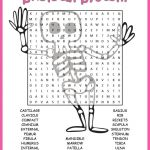 Human Skeletal System Word Search Worksheet | Tpt Science Lessons   Skeletal System Crossword Puzzle Printables