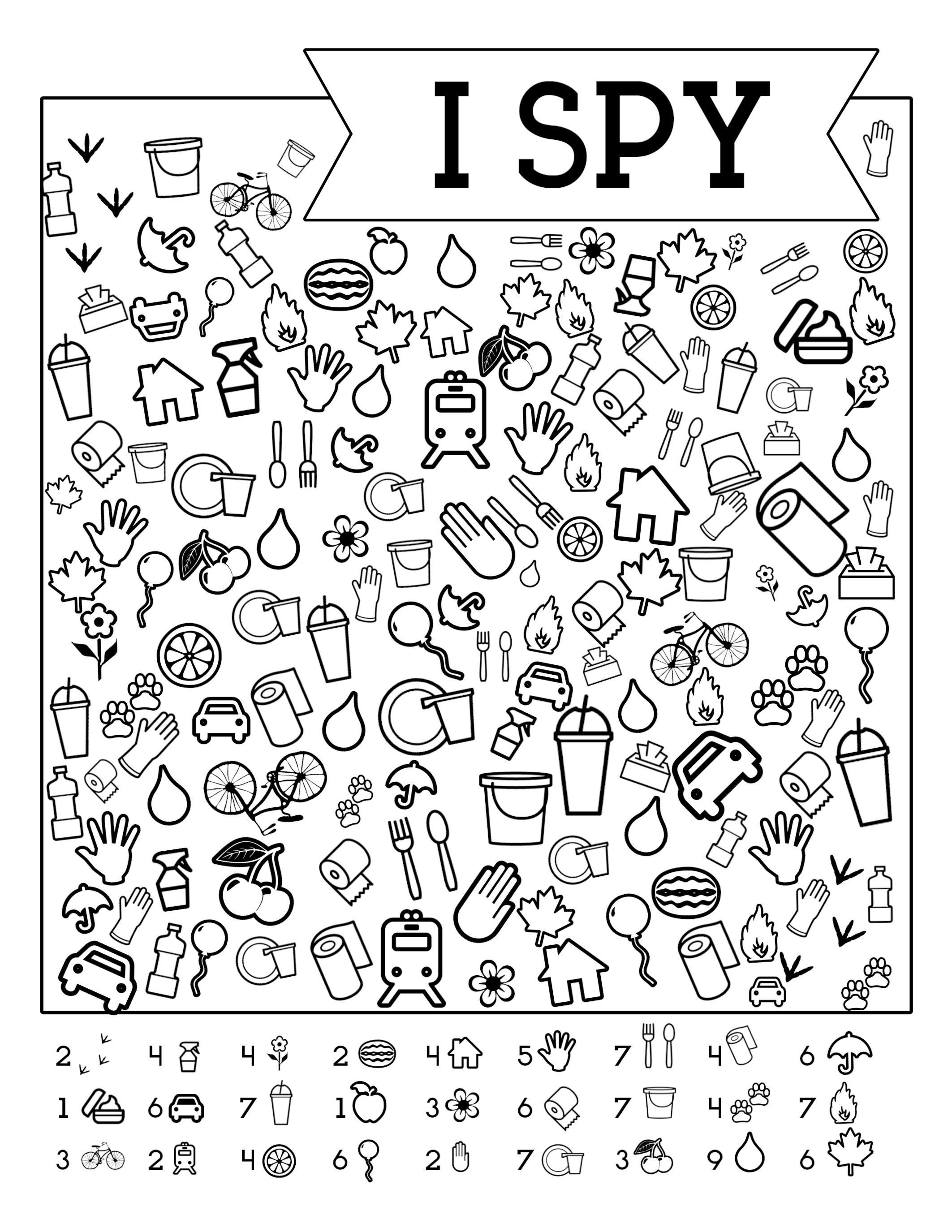 I-Spy-Free-Printable-Kids-Game | Spy School Camp | Road Trip Games - I Spy Puzzles Printable