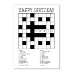 Images :kids Card Game Crossword , 4 Best Images Of Printable   Printable Birthday Crossword Puzzles