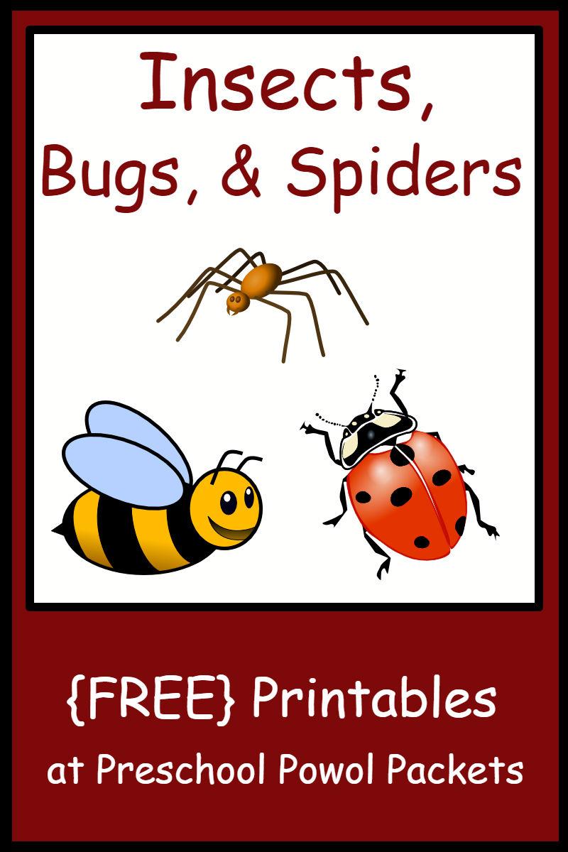 Insect, Bug, & Spider Themed {Free} Preschool Printables | Preschool - Printable Bug Puzzles