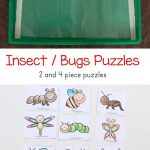 Insect Theme Printable Puzzles | Bugs & Insect Activities For Kids   Printable Puzzles For Toddlers