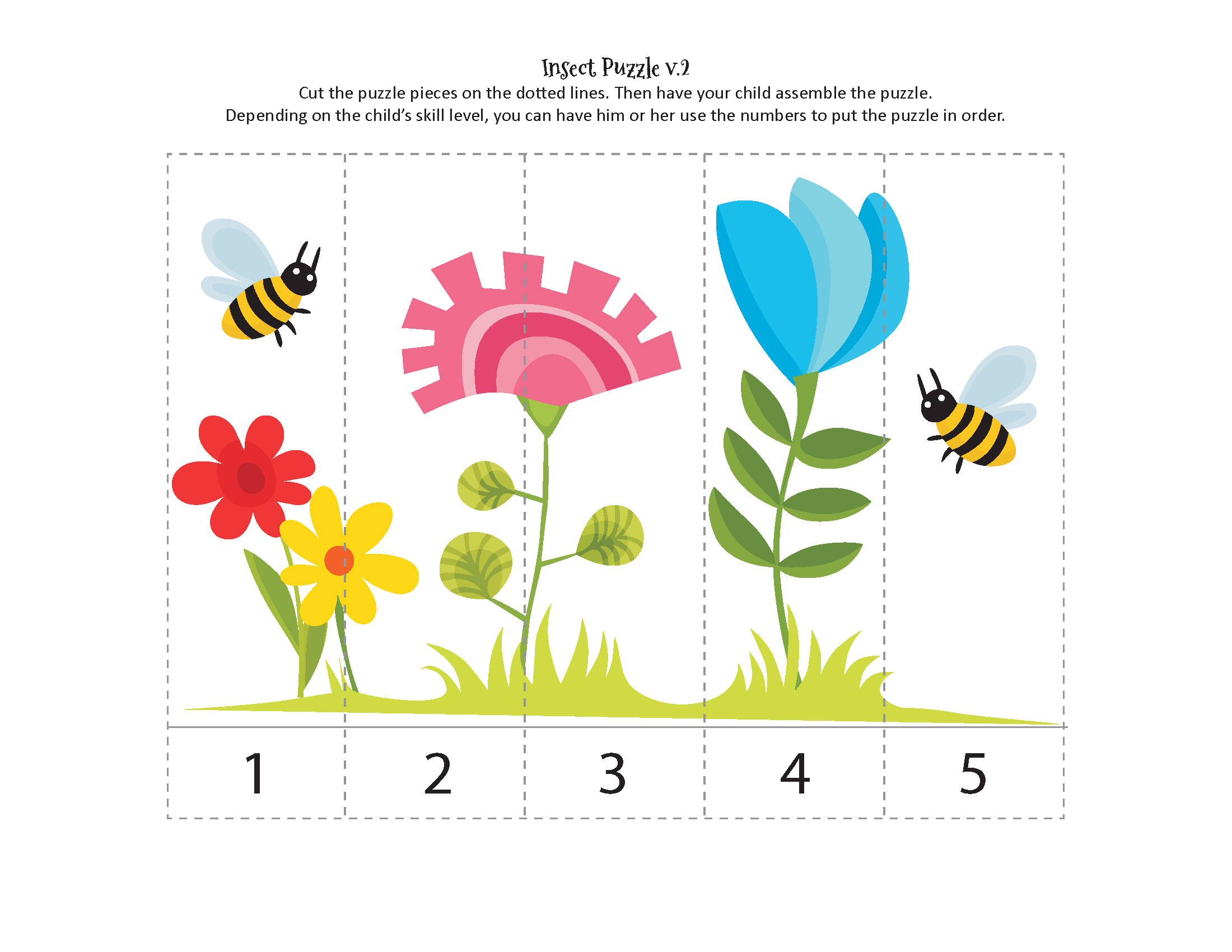 Insects Printables Pack - Gift Of Curiosity - Printable Bug Puzzles