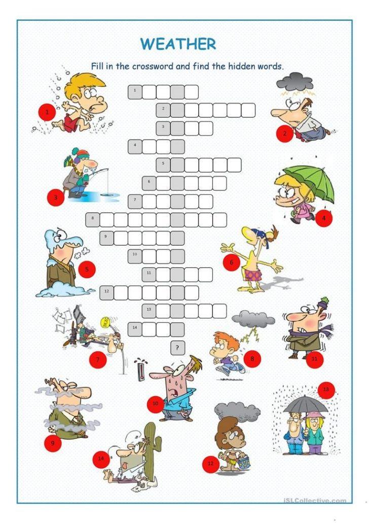 Printable Weather Crossword Puzzle