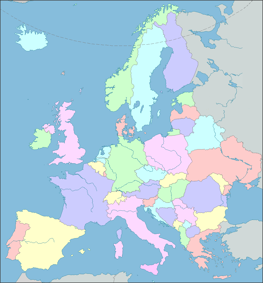 Interactive Map Of Europe, Europe Map With Countries And Seas - Printable Puzzle Map Of Europe