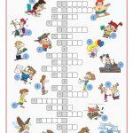Irregular Verbs Crossword Puzzle Worksheet   Free Esl Printable   Verbs Crossword Puzzle Printable