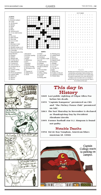 Issue 2 2011-2012North Idaho College - The Sentinel - Issuu - Printable Crossword Mirroreyes