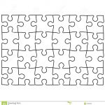 Jigsaw Puzzle Design Template | Free Puzzle Templates 1300.1390   Printable Jigsaw Puzzle Maker