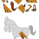 Jigsaw Puzzle With Cartoon Horse | Free Printable Puzzle Games   Printable Horse Puzzle