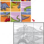 Jigsaw Puzzle With Dinosaurs   Free Printable Puzzle Games   Printable Dinosaur Puzzle