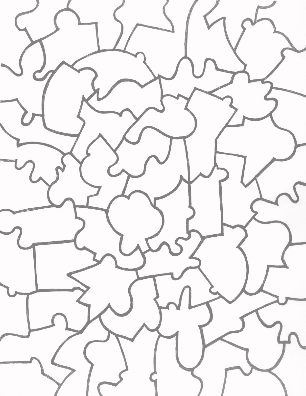 Jigsaw+Puzzle+Template+Printable   Vector   Free Printable Puzzles - Printable Puzzle Jigsaw