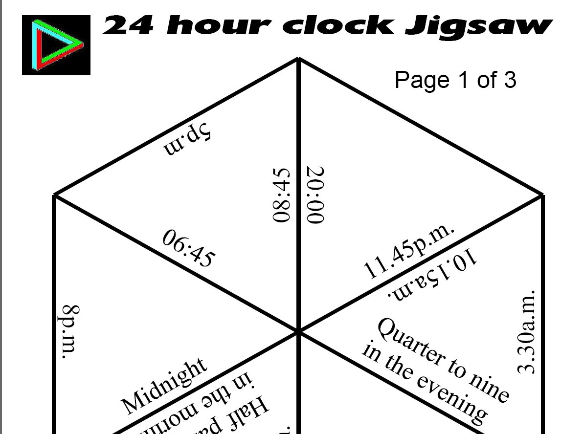 Jigsaws - Printable Tarsia Puzzle