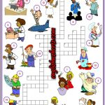 Jobs Occupations Professions Esl Printable Crossword Puzzle   Printable Crossword Puzzles Job