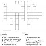 Judges Crossword Puzzle   Printable Biblical Puzzles