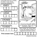 Jumble Archives | Tribune Content Agency   Jumble Puzzle Printable   Printable Jumble Crosswords