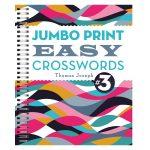 Jumbo Print Easy Crosswords Book 3. Puzzle Book   Puzzle Print Uk