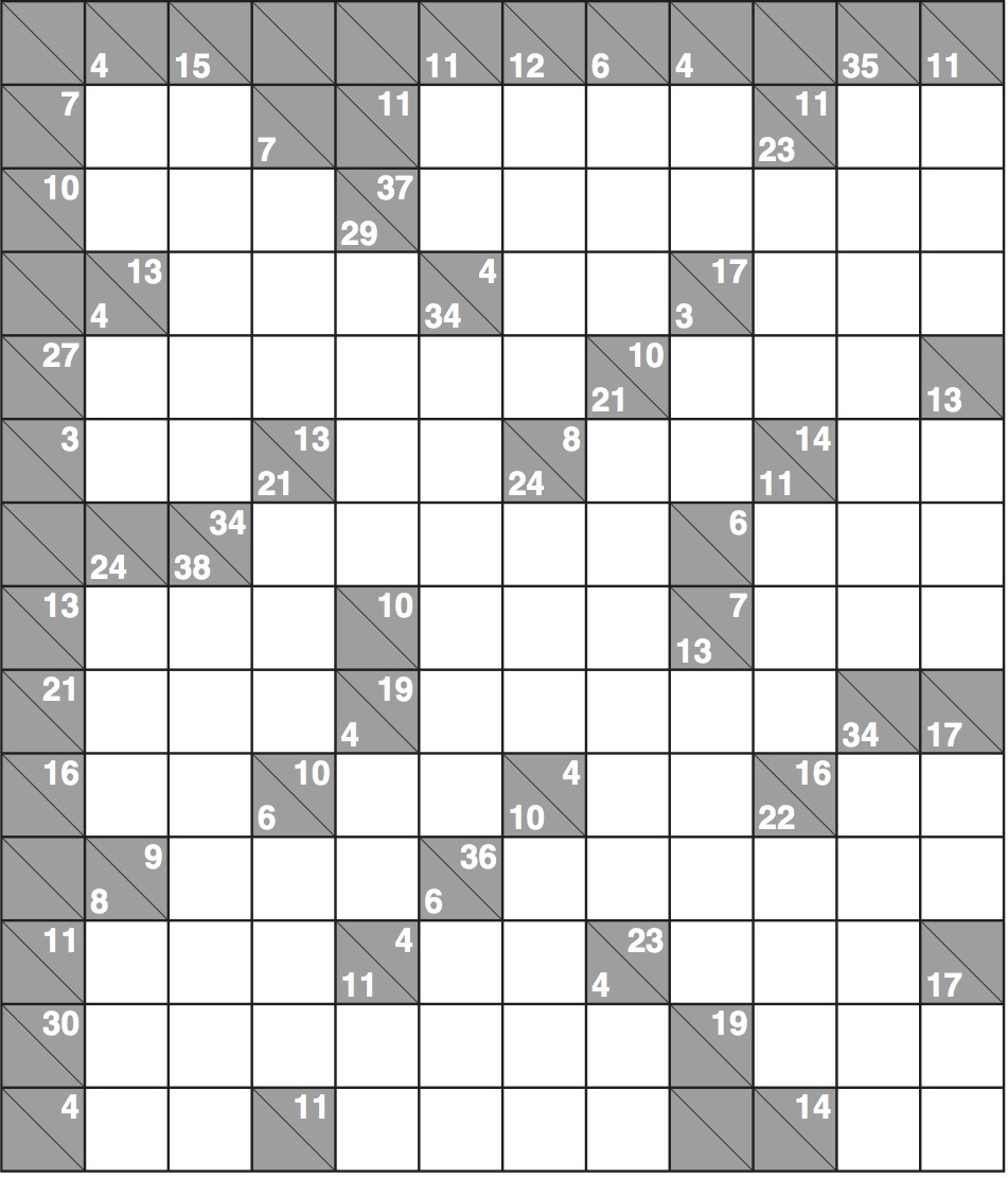 Kakuro 1568 Hard | Life And Style | The Guardian - Printable Kakuro Puzzles Hard