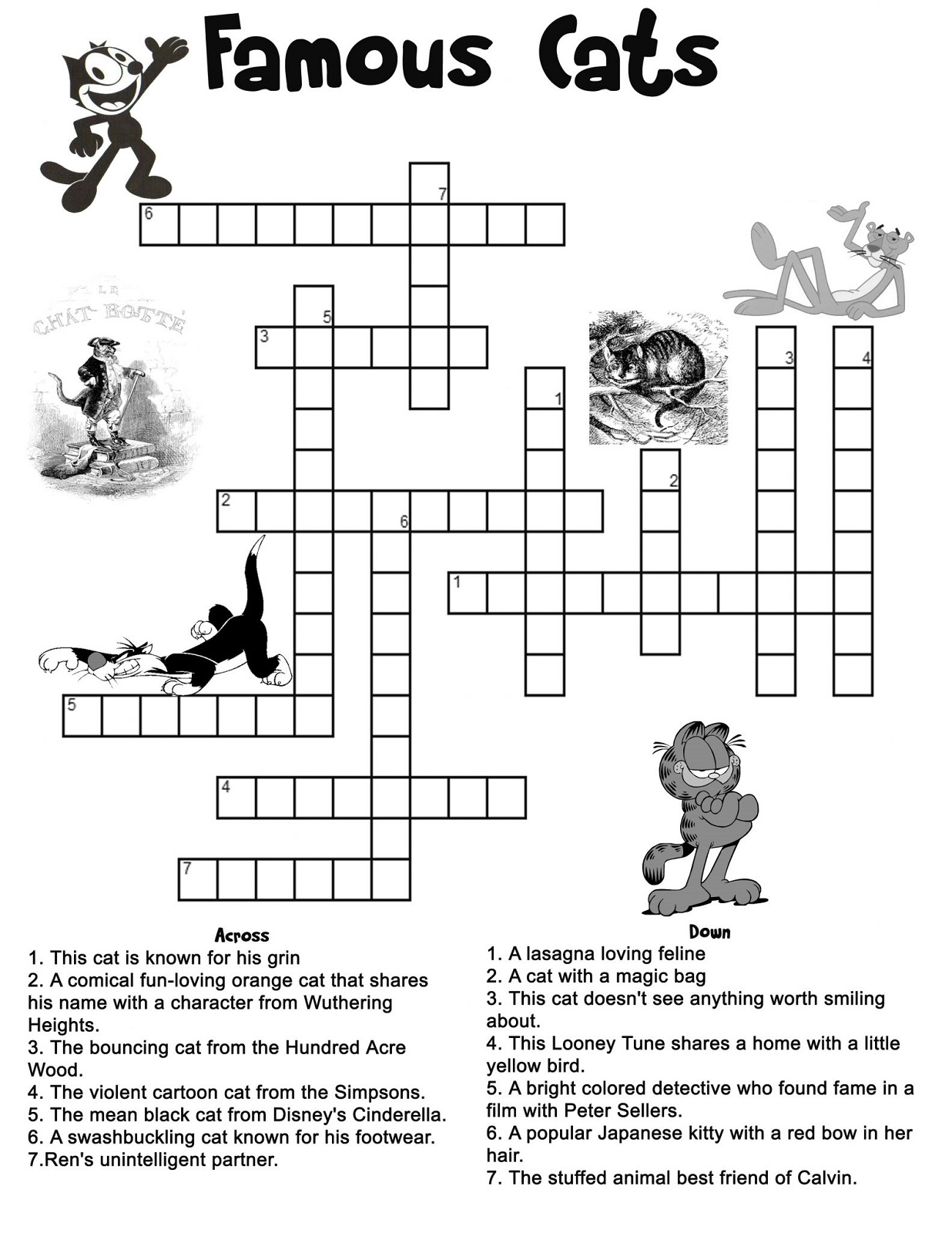 Kids' Crossword Puzzles To Print | Activity Shelter - Printable Cartoon Crossword Puzzles