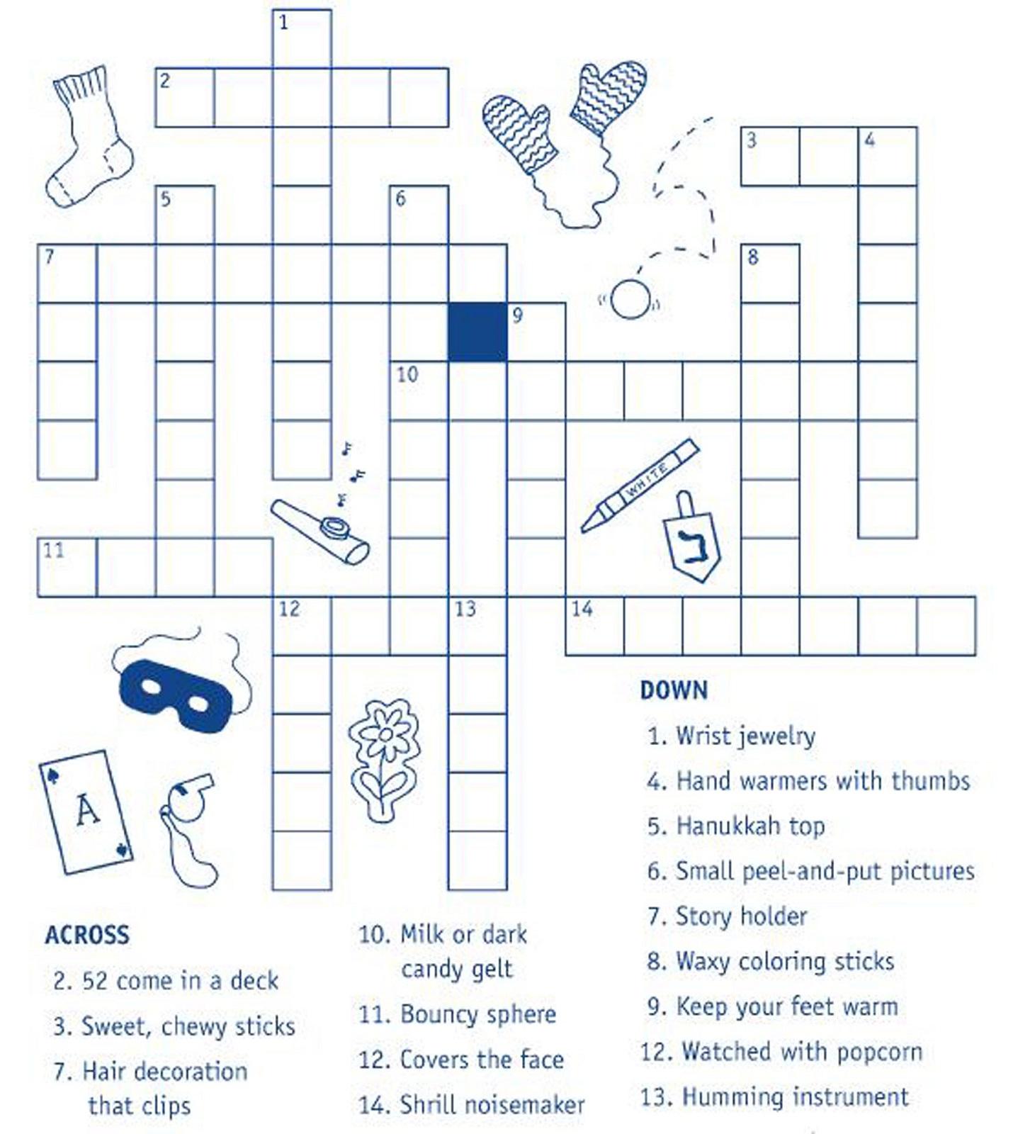 Kids' Crossword Puzzles To Print | Activity Shelter - Printable Hanukkah Crossword Puzzles