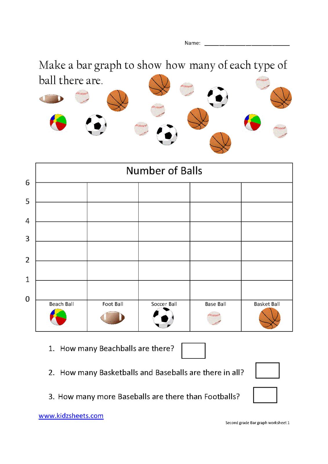 Kidz Worksheets: Second Grade Bar Graph Worksheet1 | School | Kids - Printable Graphing Puzzles