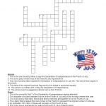 Language Summer Extra Credit: Week #3  Fourth Of July Crossword Puzzle   Printable Fourth Of July Crossword Puzzles
