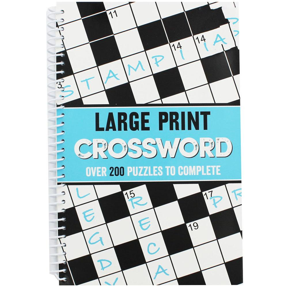 Large Print Crossword | Crossword Books At The Works - Puzzle Print Uk