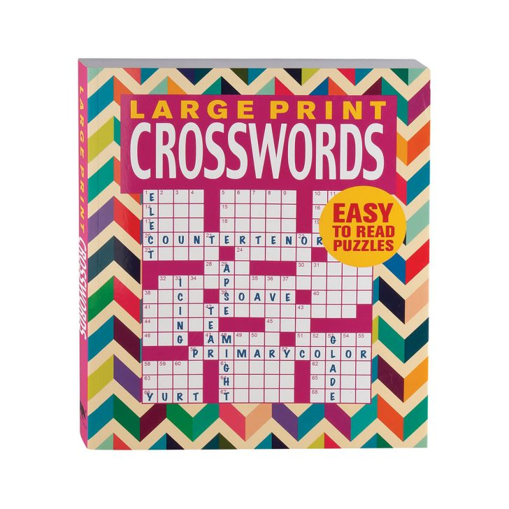 Large Print Crossword Puzzle Books For Seniors