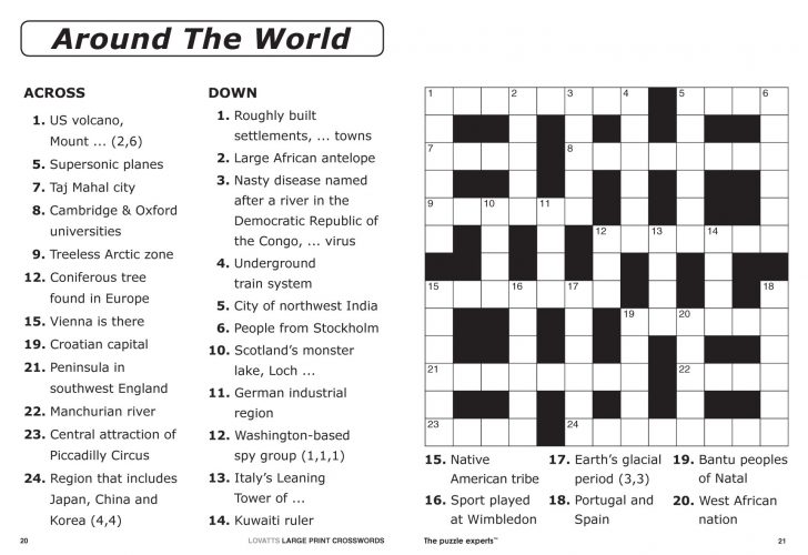Large Print Crossword Puzzle Subscription