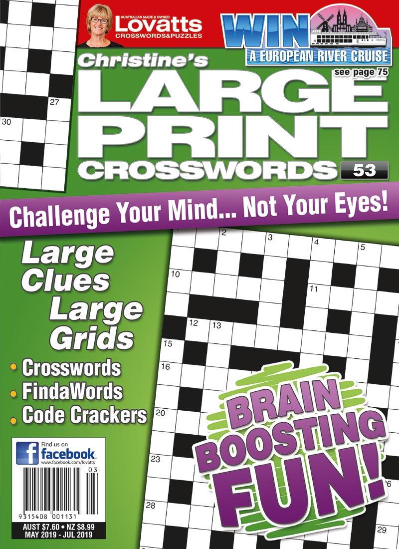 Large Print Crosswords Magazine - Lovatts Crossword Puzzles Games - Printable Lovatts Crosswords