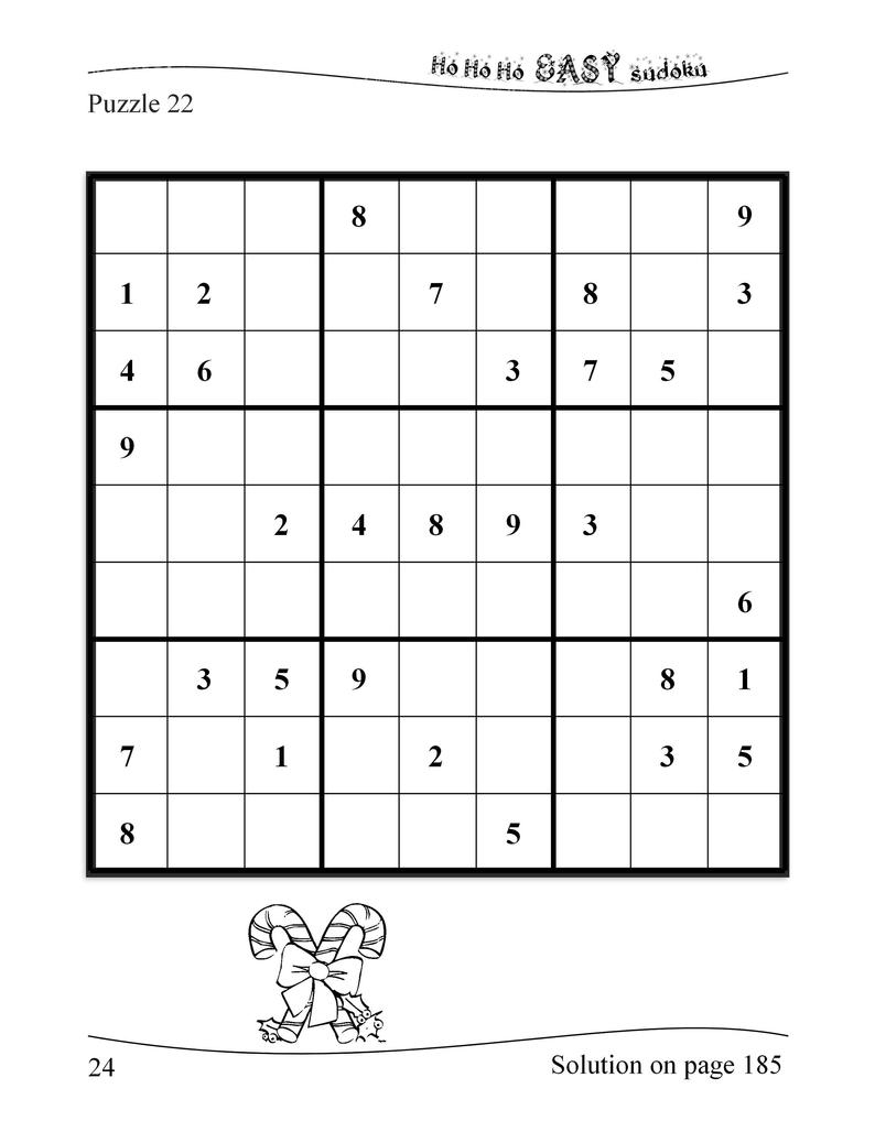 Large Print Sudoku Christmas 180 Easy To Hard Puzzles: | Etsy - Printable Sudoku Puzzles 8 Per Page