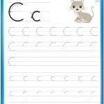 Letter C Is For Cat Handwriting Practice Worksheet | Free Printable   Letter C Puzzle Printable