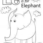 Letter E Is For Elephant Coloring Page | Free Printable Coloring Pages   Printable Elephant Puzzle