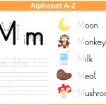 Letter M Tracing Worksheet | Free Printable Puzzle Games   Letter M Puzzle Printable