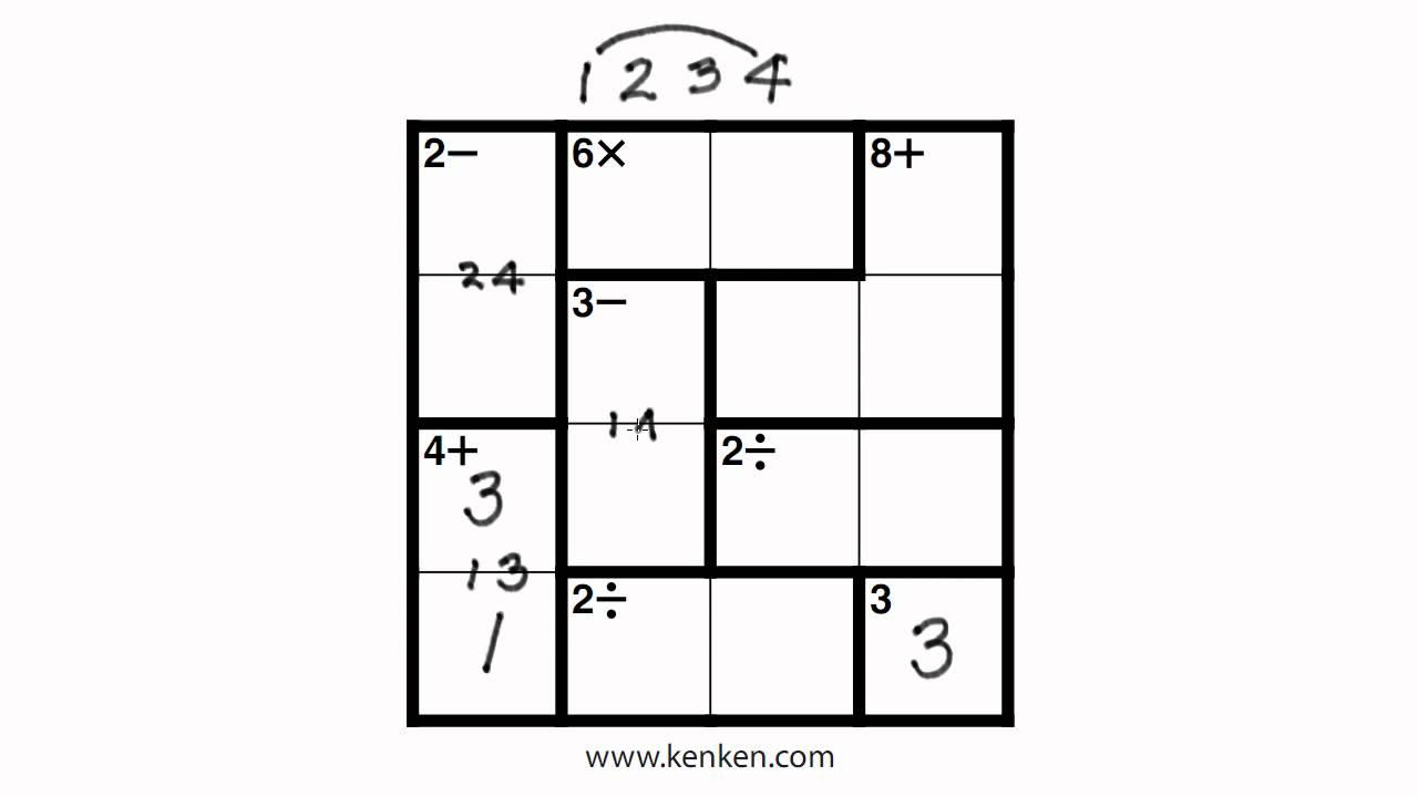 List Of Synonyms And Antonyms Of The Word: 4X4 Kenken - Printable Kenken Puzzle 7X7