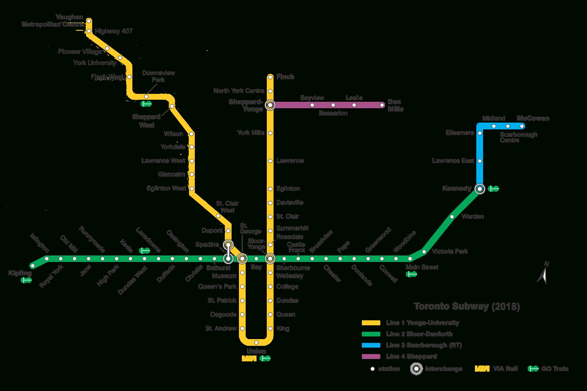List Of Toronto Subway Stations - Wikipedia - Printable Crossword Metro