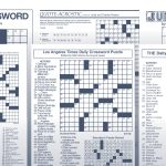Los Angeles Times Sunday Crossword Puzzle | Tribune Content Agency   Printable La Crossword Puzzles