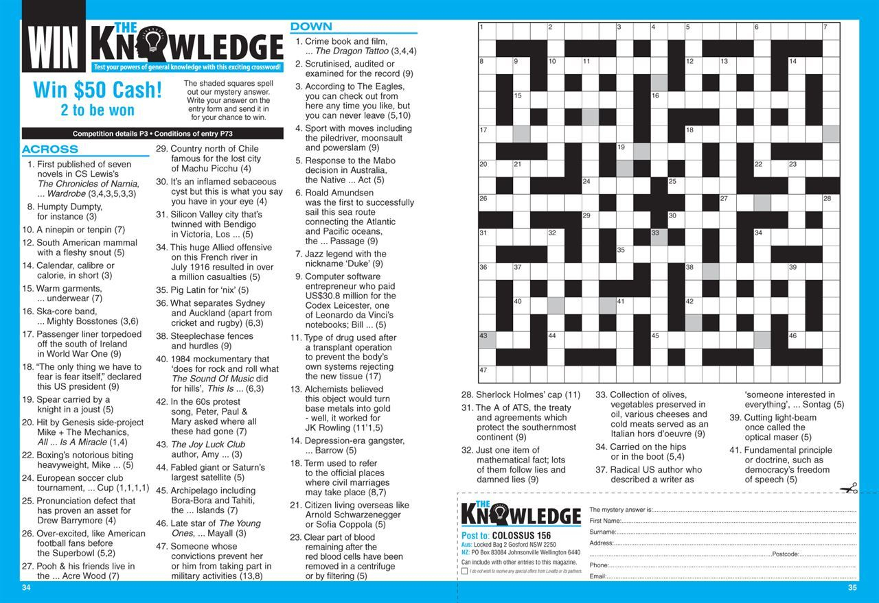 Lovatts Colossus Crosswords (Nz). | Magshop - Print Puzzle Nz