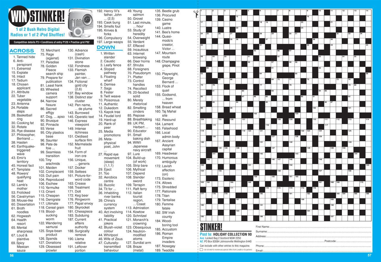 Lovatts Holiday Crossword Collection (Nz). | Magshop - Printable Cryptic Crossword Puzzles Nz