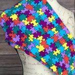 Lularoe Tc Puzzle Piece Leggings Nwt Autism Awareness * Unicorn   Puzzle Print Leggings