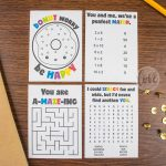 Lunch Box Activity And Puzzle Notes   Love Paper Crafts   Printable Puzzle Paper