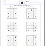 Magic Square Puzzles This Page Has 3X3, 4X4 And 5X5 Magic Square   Printable Kenken Puzzle 5X5