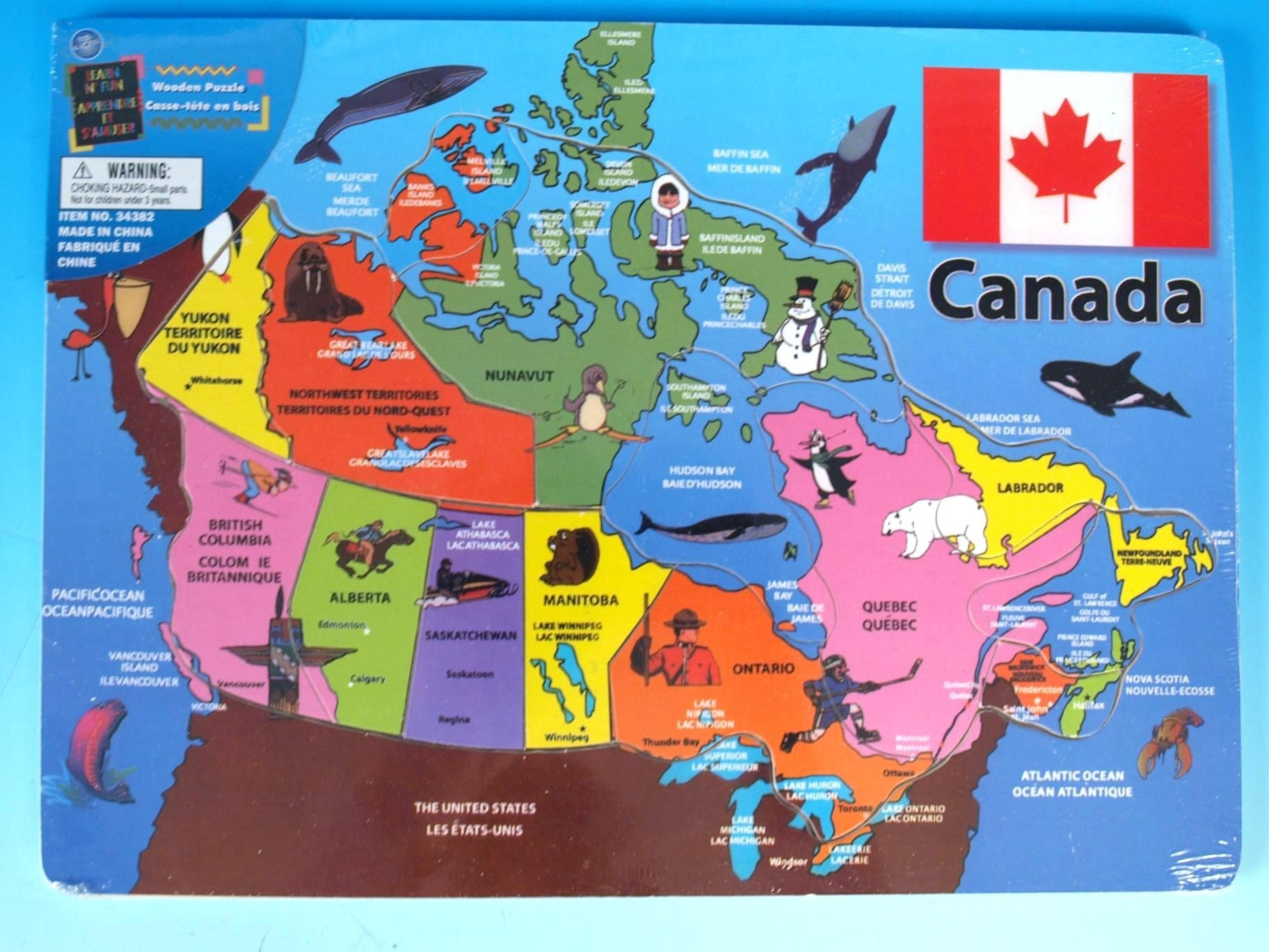 Map Of Canada Puzzle Printable - Capitalsource - Printable Puzzle Map Of Canada