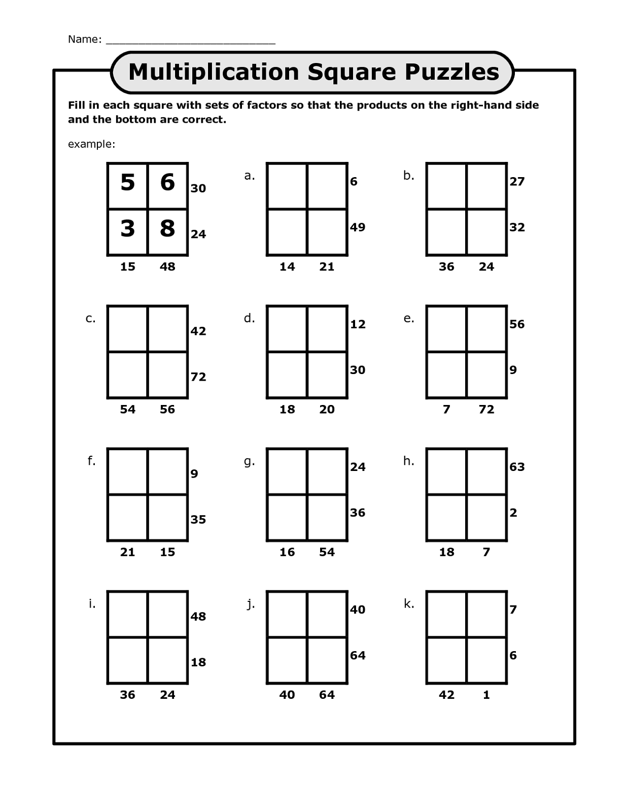Math Puzzles Printable For Learning | Activity Shelter - Printable Multiplication Puzzle