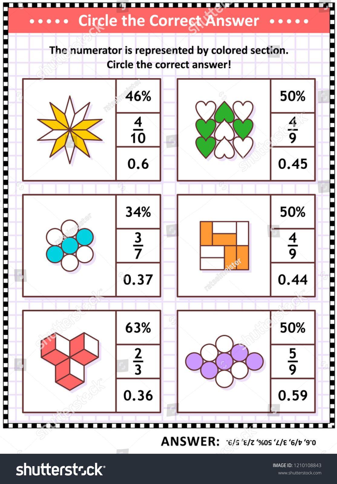 Math Skills And Iq Training Visual Puzzle Or Worksheet For - Worksheet Visual Puzzle