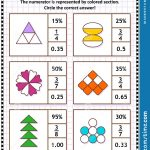 Math Skills Training Puzzle Or Worksheet With Visual Fractions Stock   Worksheet Visual Puzzle