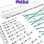 Maths Puzzles Worksheets Fun Math High School Pdf 6Th Grade Ks3 For   Printable Math Puzzles Pdf